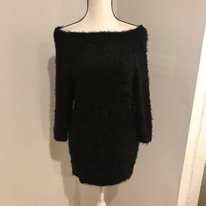 Bebe Womens Black Long Blouse Size M #1